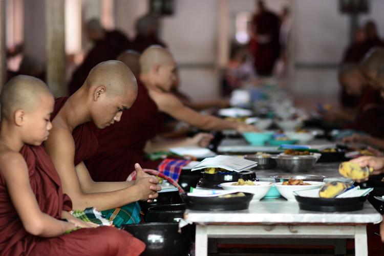 birmanie, voyage, photo, mandalay, moine, temple