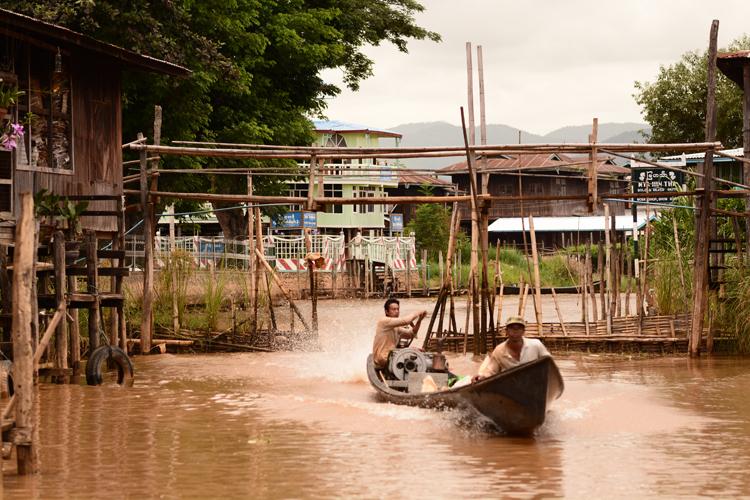 birmanie, voyage, photo, lac inle, lac, bateau