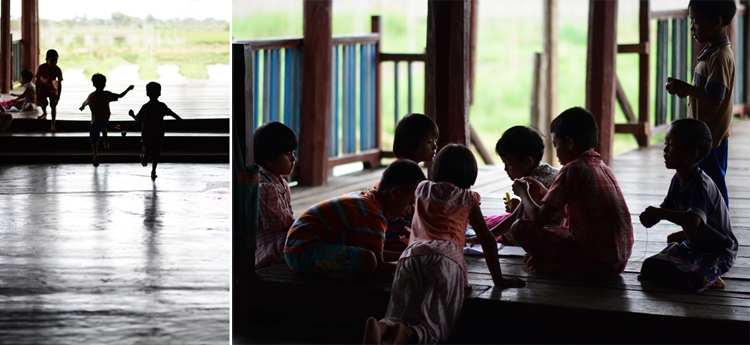 birmanie, voyage, photo, lac inle, lac, enfant, portrait, jeu
