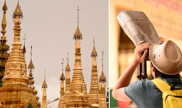 birmanie, yangoon, rangon, temple, voyage, photo, portrait
