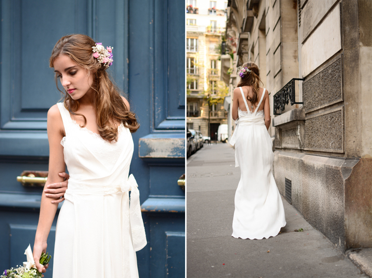 Pauline Rançon robe mariée 2016, mariée, robe de mariée, pauline rançon création, fabryka, paris, portrait, mode