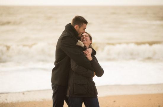 séance couple, couple, pornic, plage, engagement, engagement session, photoshoot, reportage, beach, hiver, winter, nantes
