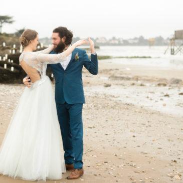 Un mariage d'hiver à la plage
